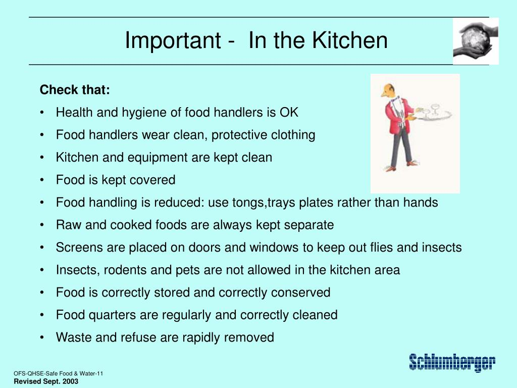 Important -  In the Kitchen