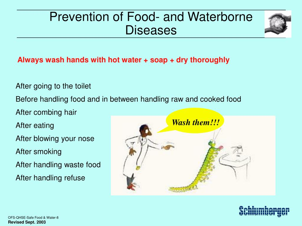 Prevention of Food- and Waterborne Diseases