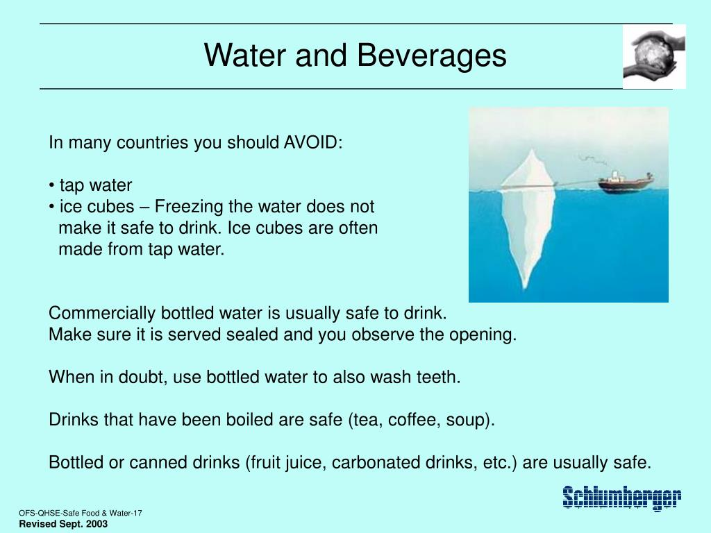 Water and Beverages