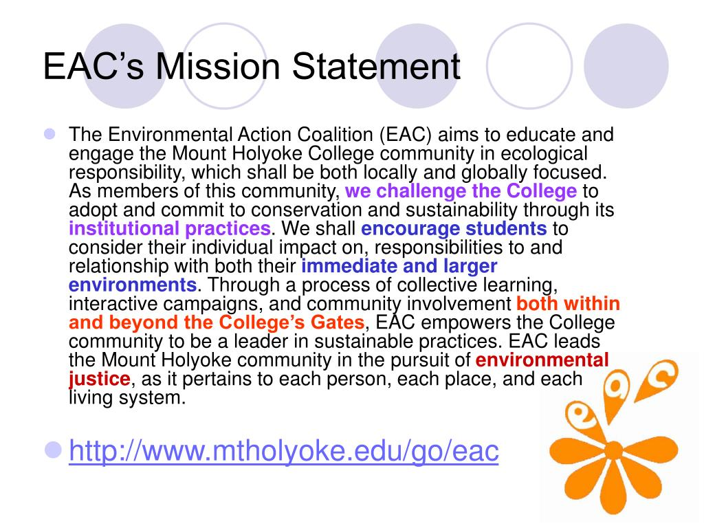 EAC's Mission Statement