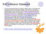 eac s mission statement