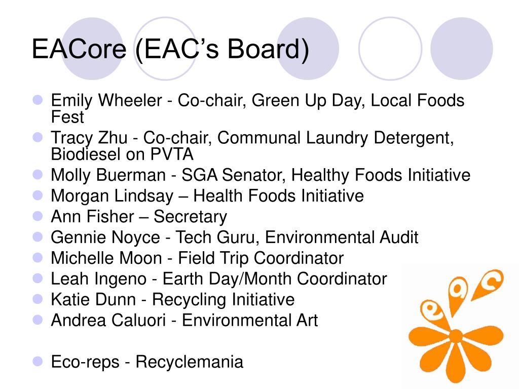 EACore (EAC's Board)