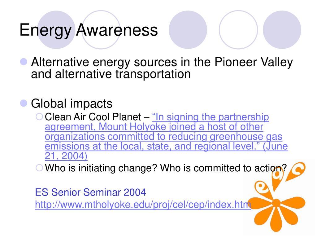 Energy Awareness