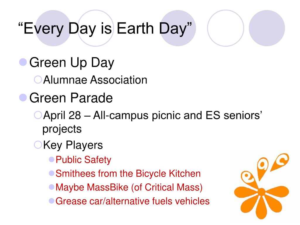 """""""Every Day is Earth Day"""""""