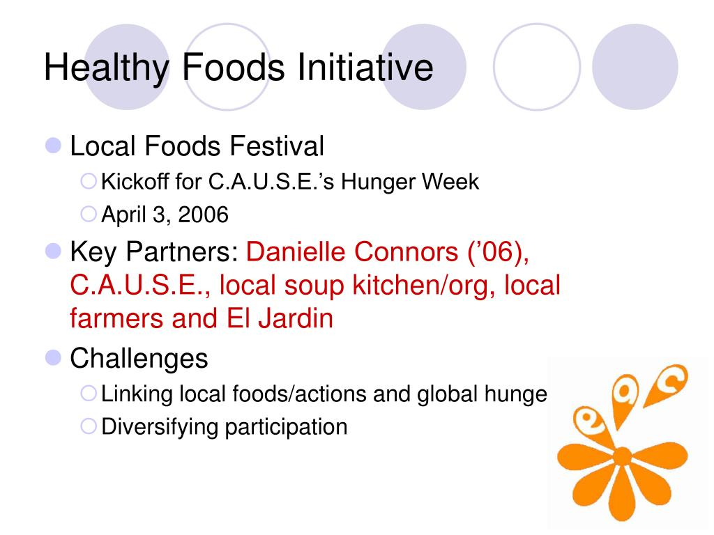 Healthy Foods Initiative
