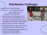 distribution challenges
