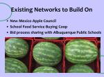 existing networks to build on
