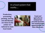 in a food system that works