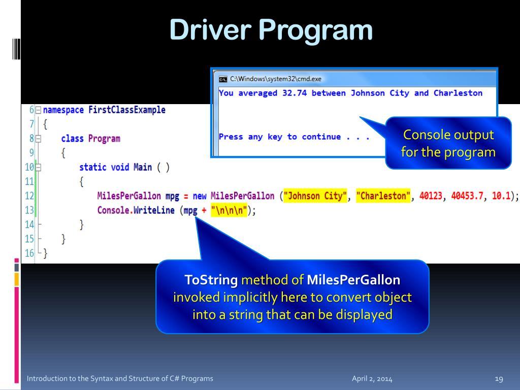 Driver Program