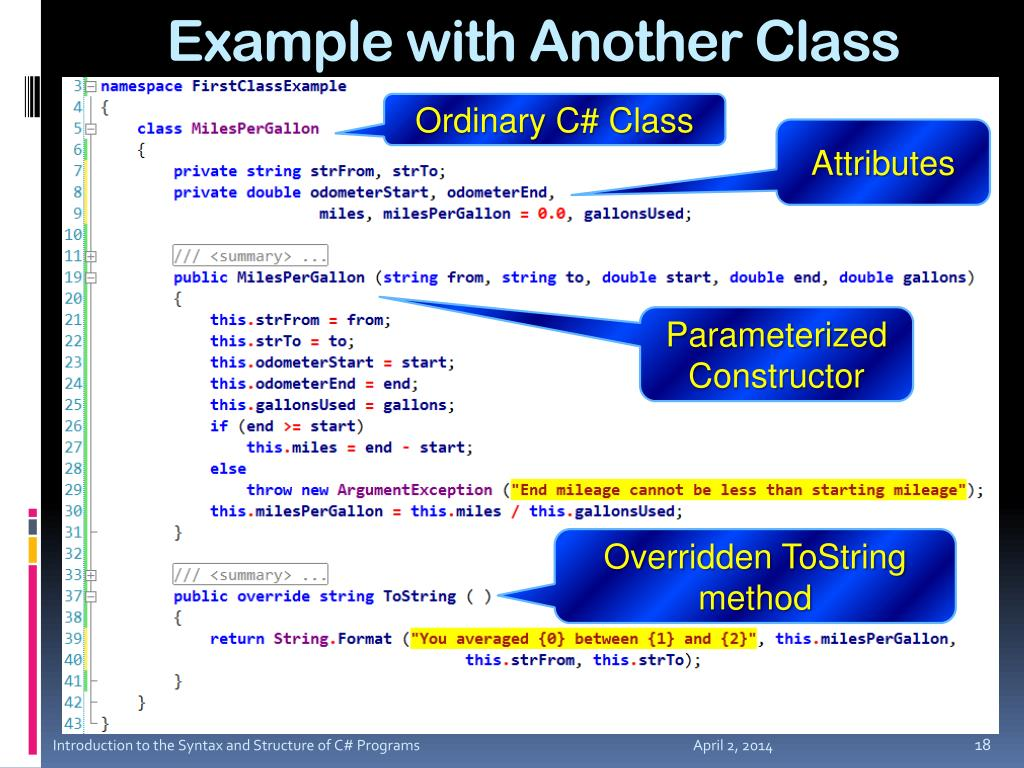 Example with Another Class