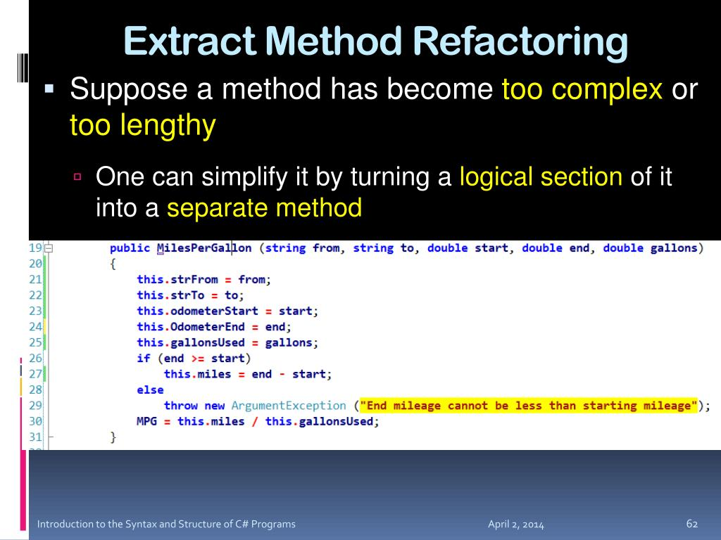 Extract Method Refactoring