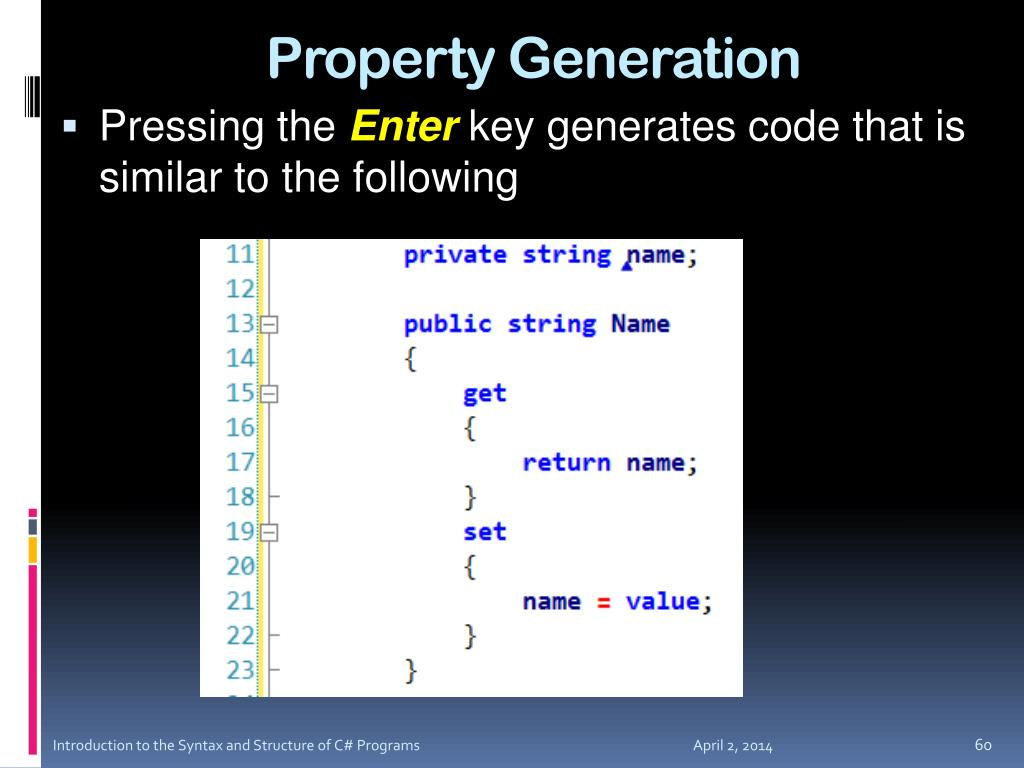 Property Generation