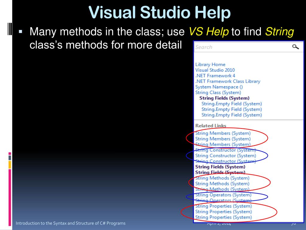 Visual Studio Help