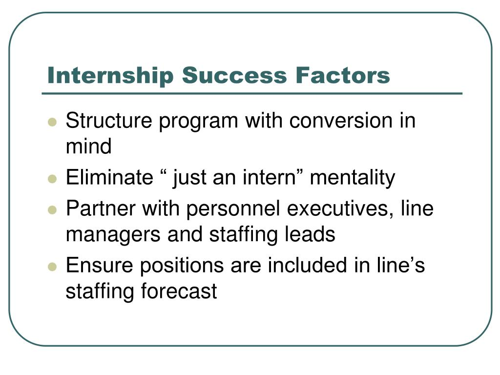 Internship Success Factors