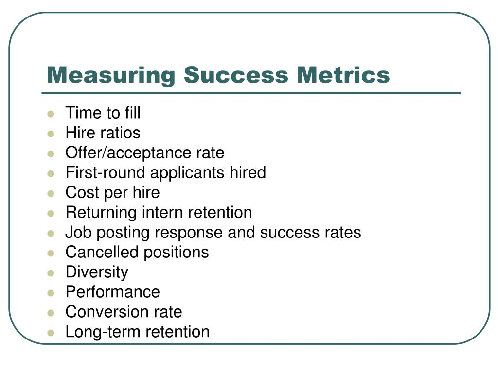 Measuring Success Metrics
