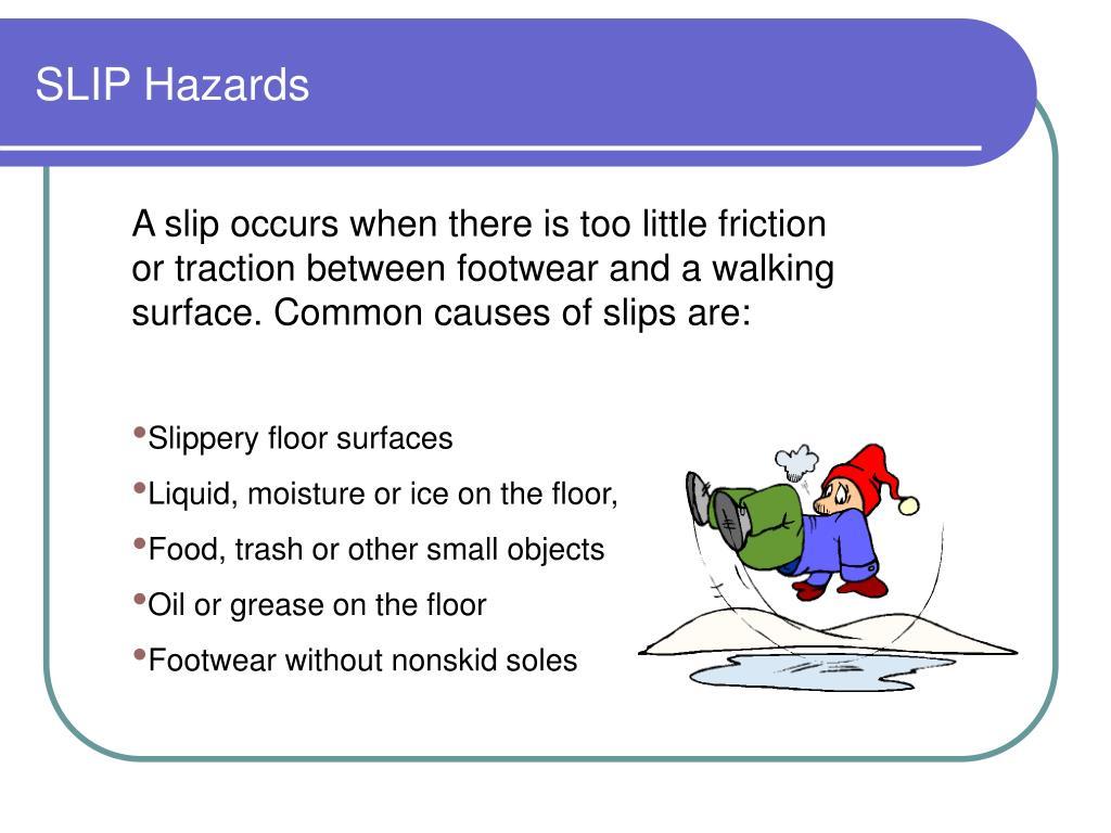 SLIP Hazards