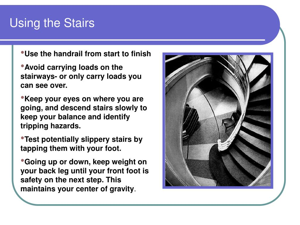 Using the Stairs