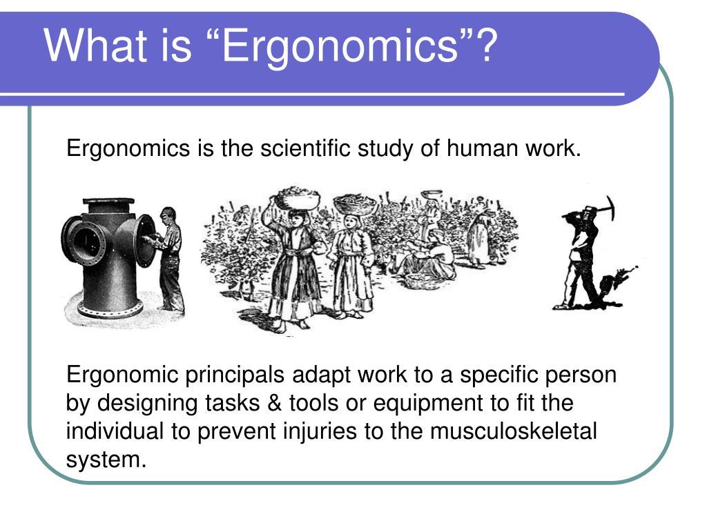 "What is ""Ergonomics""?"