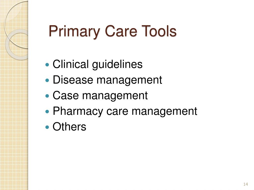 PPT - Outpatient Services and Primary Health Care ...