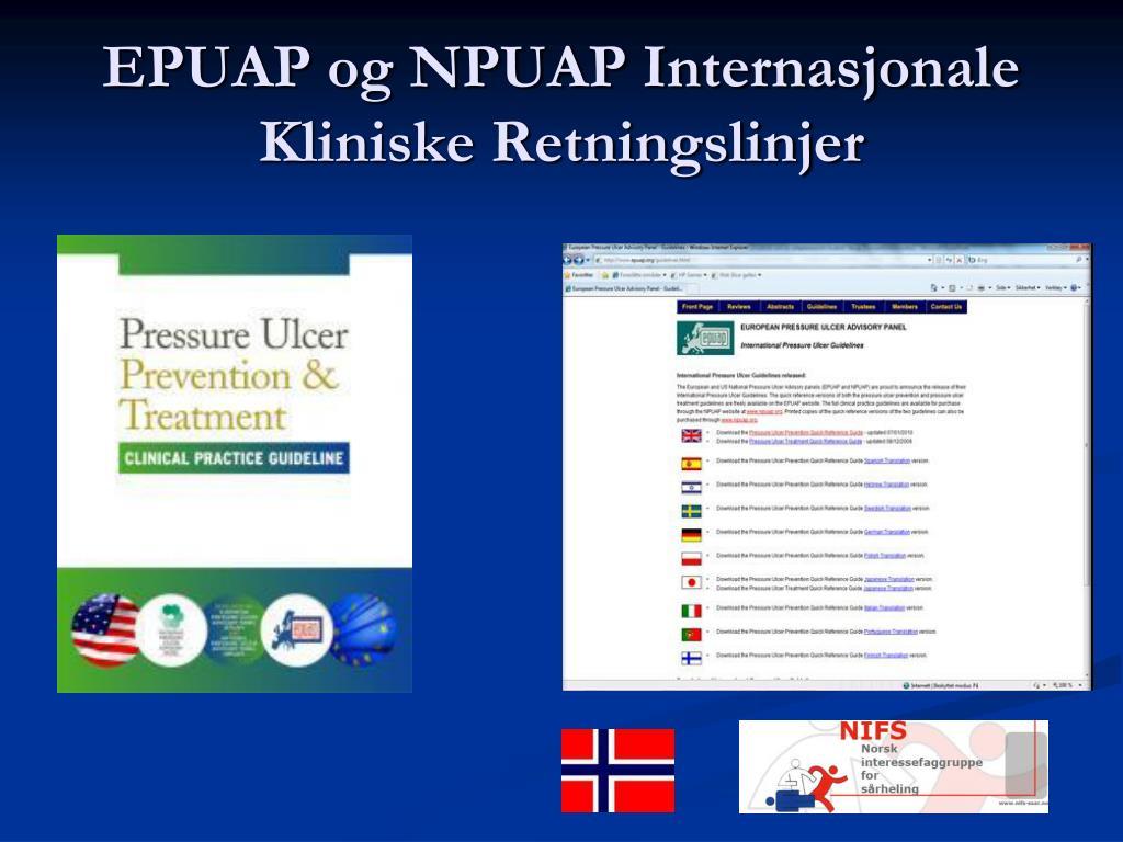 EPUAP og NPUAP Internasjonale Kliniske Retningslinjer