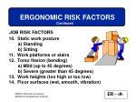 ergonomic risk factors23