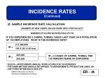 incidence rates continued