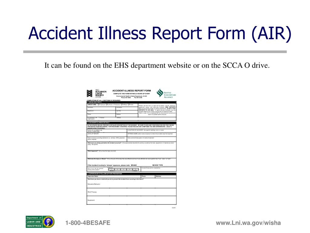 Accident Illness Report Form (AIR)