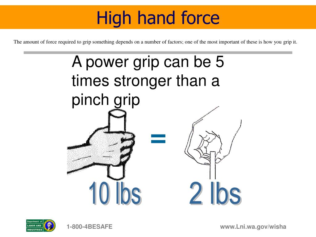 High hand force
