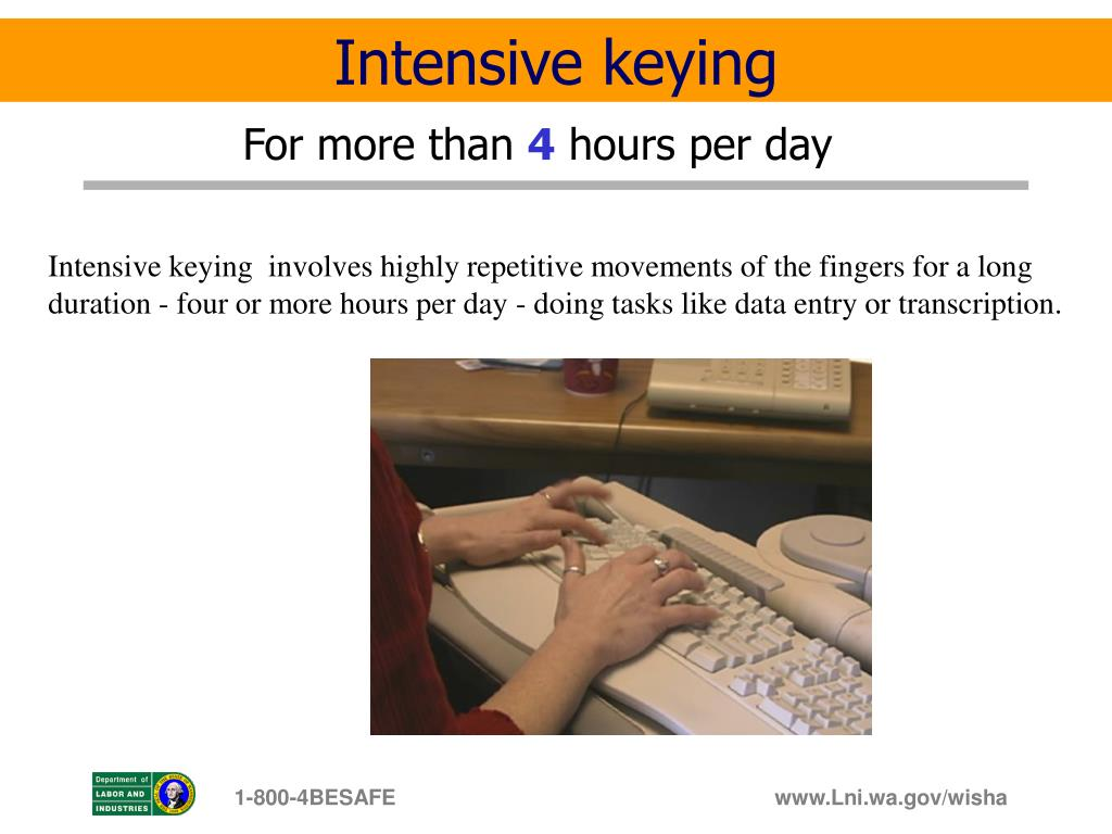 Intensive keying