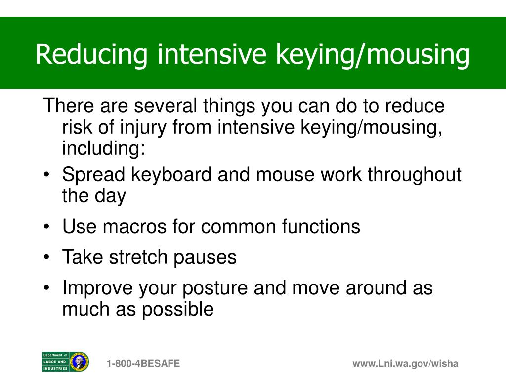 Reducing intensive keying/mousing