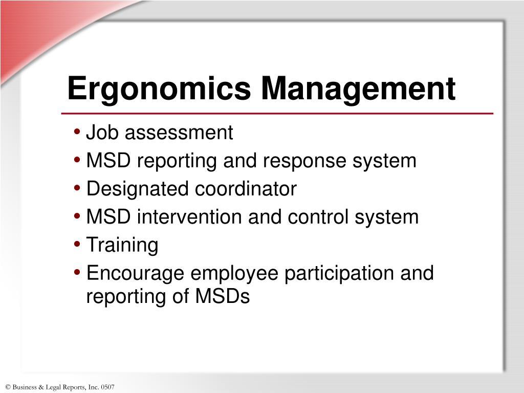 Ergonomics Management