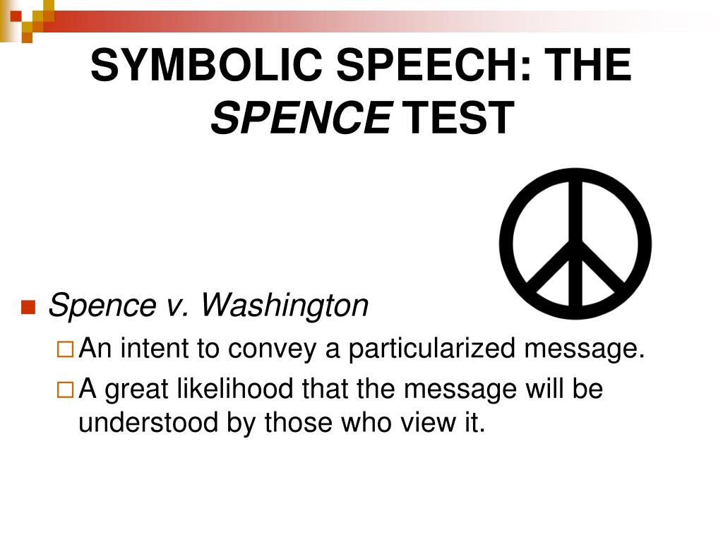 symbolic speech should be protected Free speech and blind patriotism in the times of 'tiranga nationalism why should speech be free censoring symbolic speech to protect 'patriotism' is cringe.