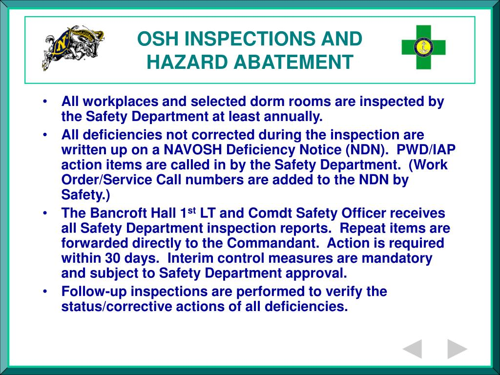 OSH INSPECTIONS AND