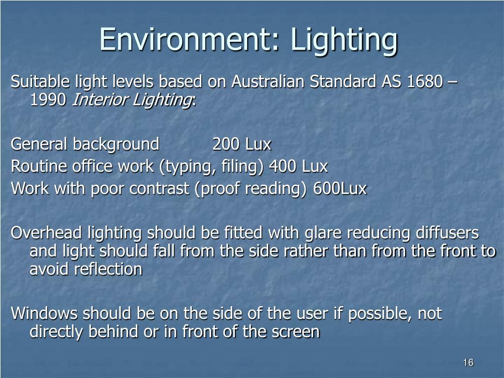 Environment: Lighting