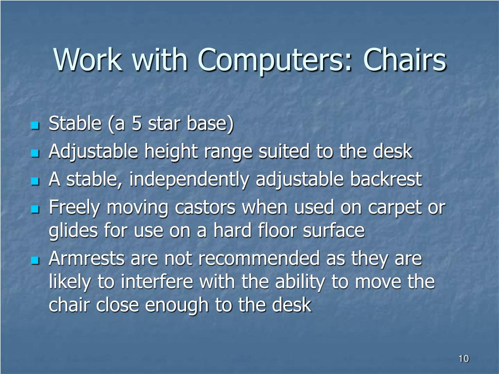 Work with Computers: Chairs