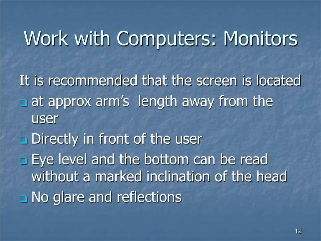 Work with Computers: Monitors
