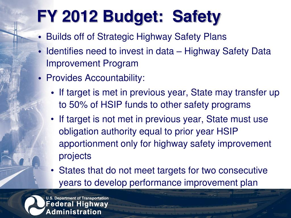 FY 2012 Budget:  Safety