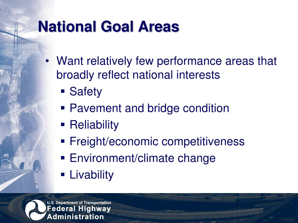 National Goal Areas