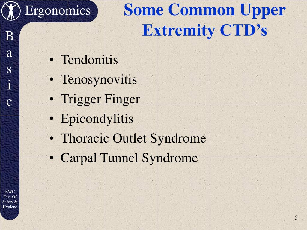 Some Common Upper Extremity CTD's