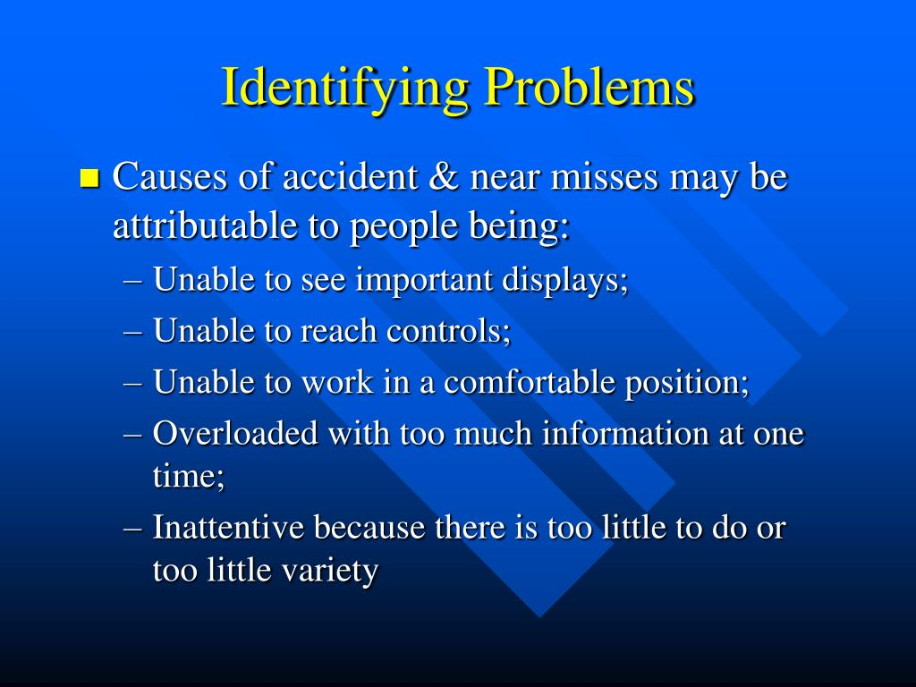 Identifying Problems