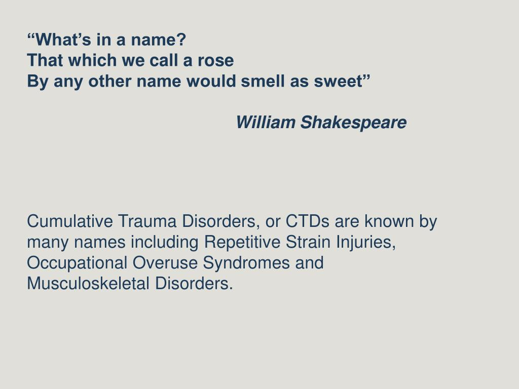 """What's in a name?"