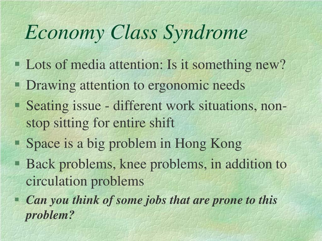 Economy Class Syndrome