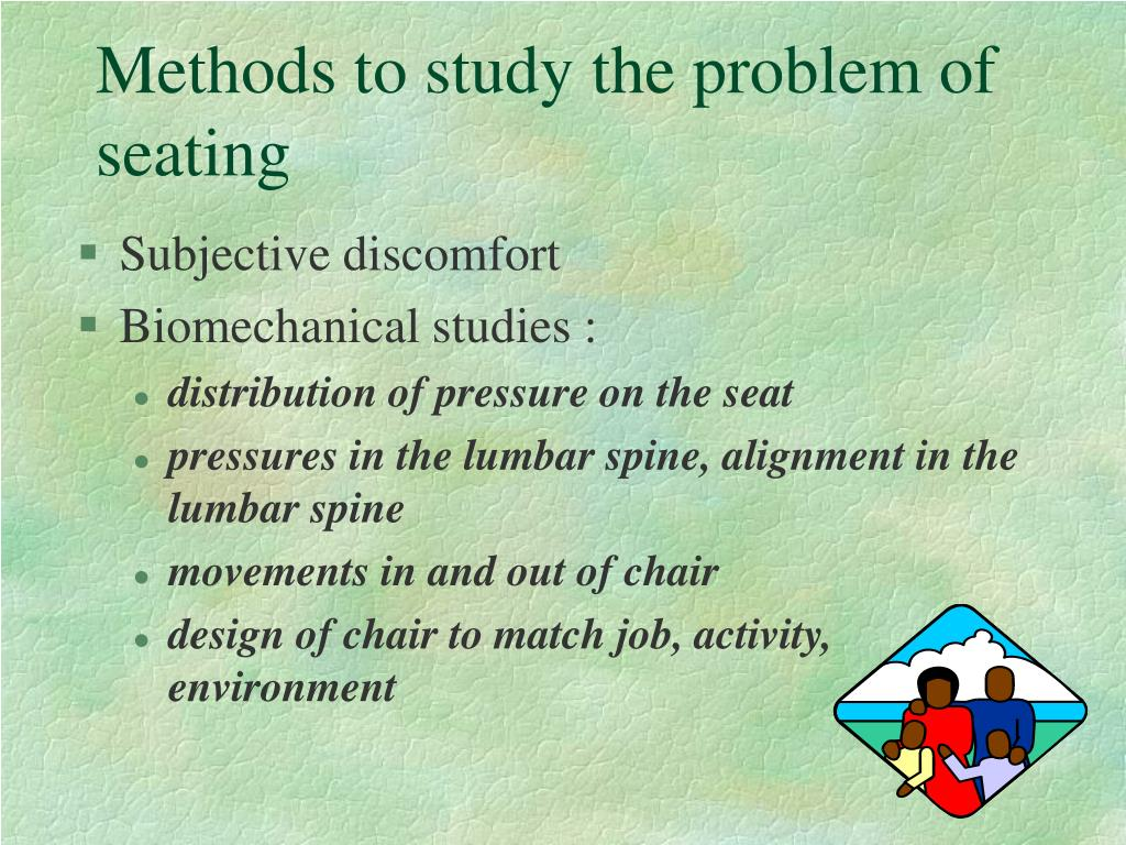 Methods to study the problem of seating