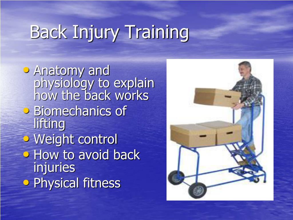 Back Injury Training