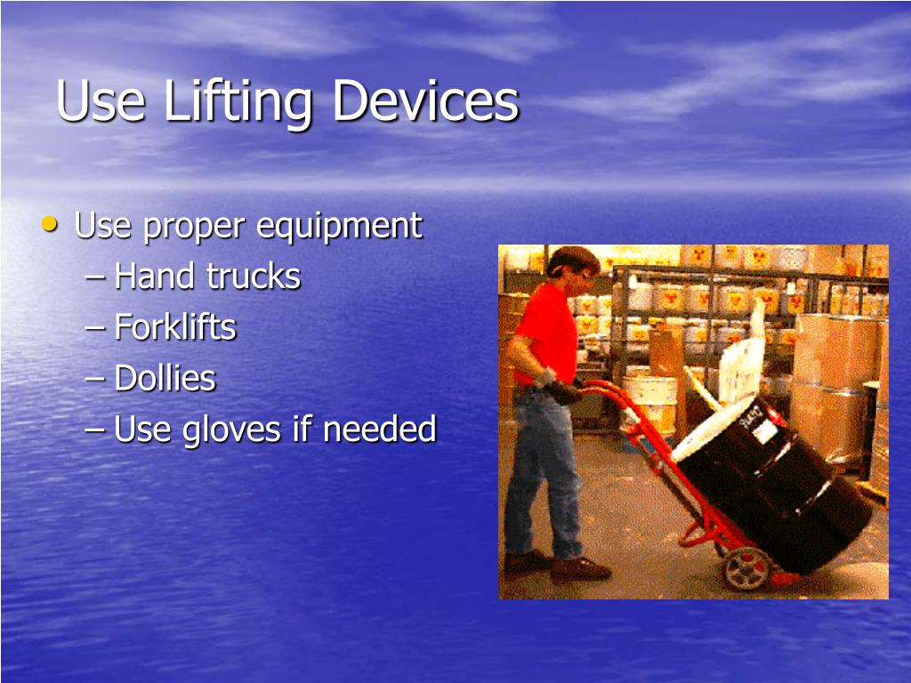 Use Lifting Devices