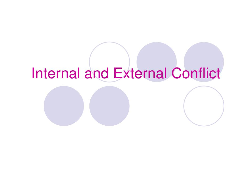 ppt internal and external conflict powerpoint