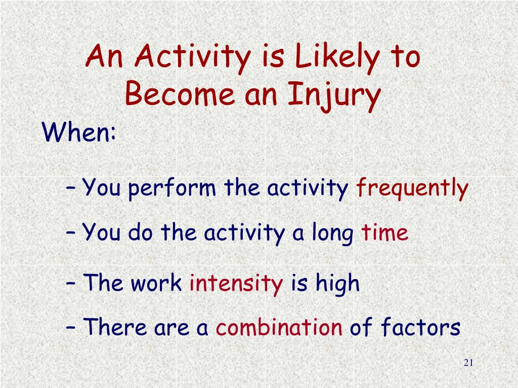 An Activity is Likely to