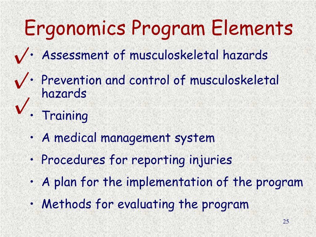 Ergonomics Program Elements