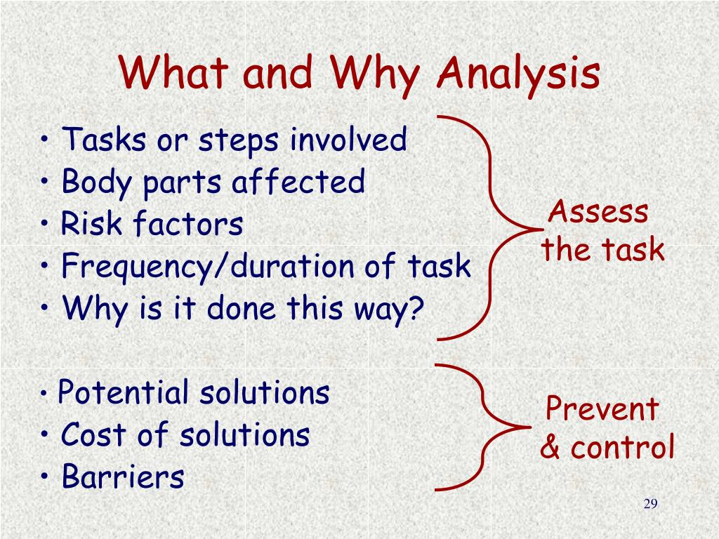What and Why Analysis