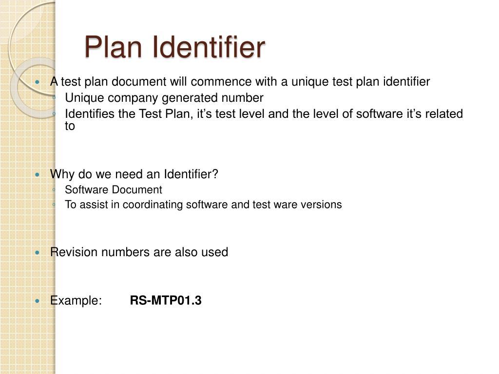 Plan Identifier